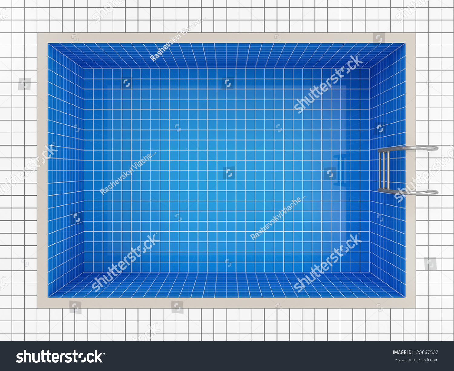 Empty swimming pool top view stock illustration 120667507 for Empty swimming pool