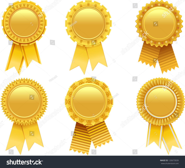 Vector Gold Award Rosette Stock Vector 120673039 ...