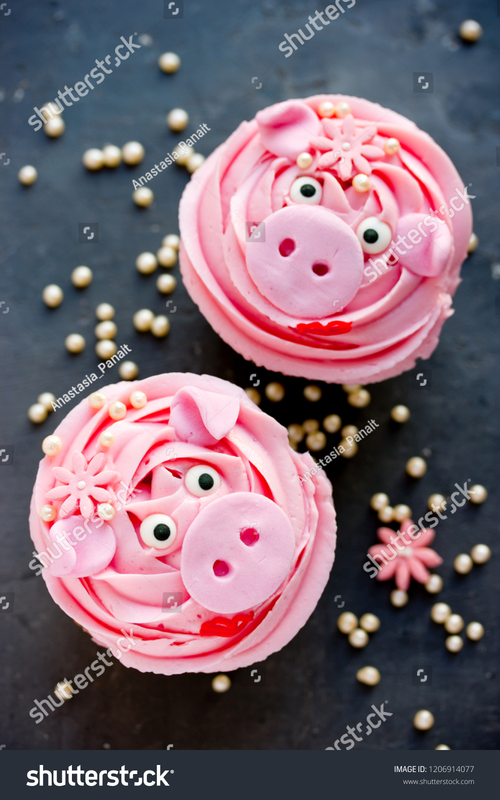 Miss Piggy Cupcakes Beautiful Delicious Cakes Stock Photo Edit Now