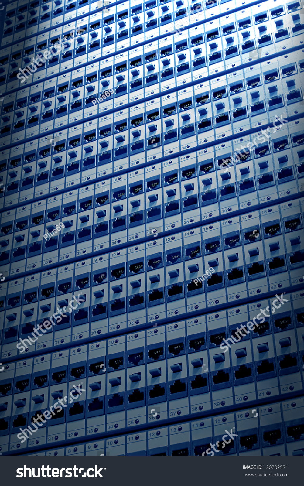 Kind Wiring Closet Patch Panels 6th Stock Illustration 120702571 Internet Of With 6 Th Category In The Background