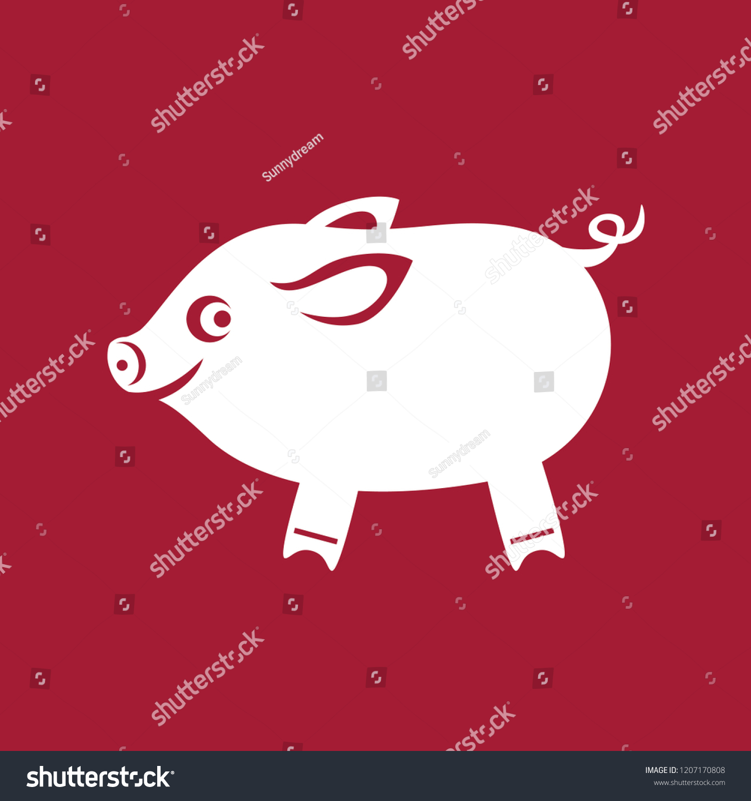 Pig Christmas Tree Toy Templates Laser Stock Vector Royalty Free