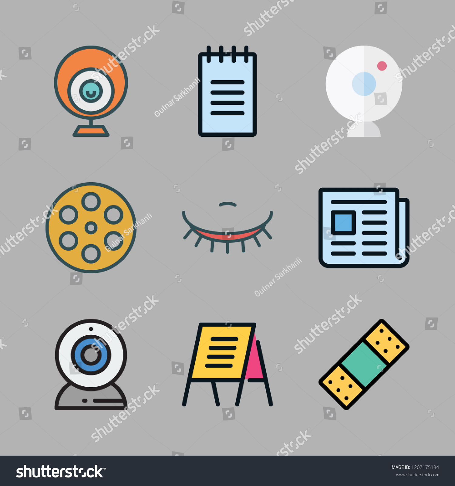 Strip Icon Set Vector Set About Stock Vector Royalty Free 1207175134