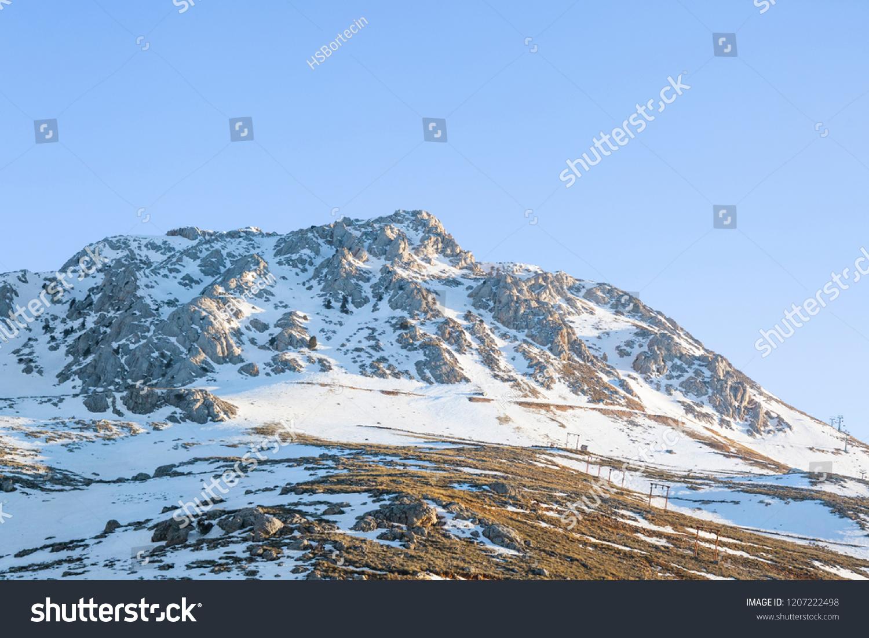 saklikent ski centre spring on taurus stock photo (edit now