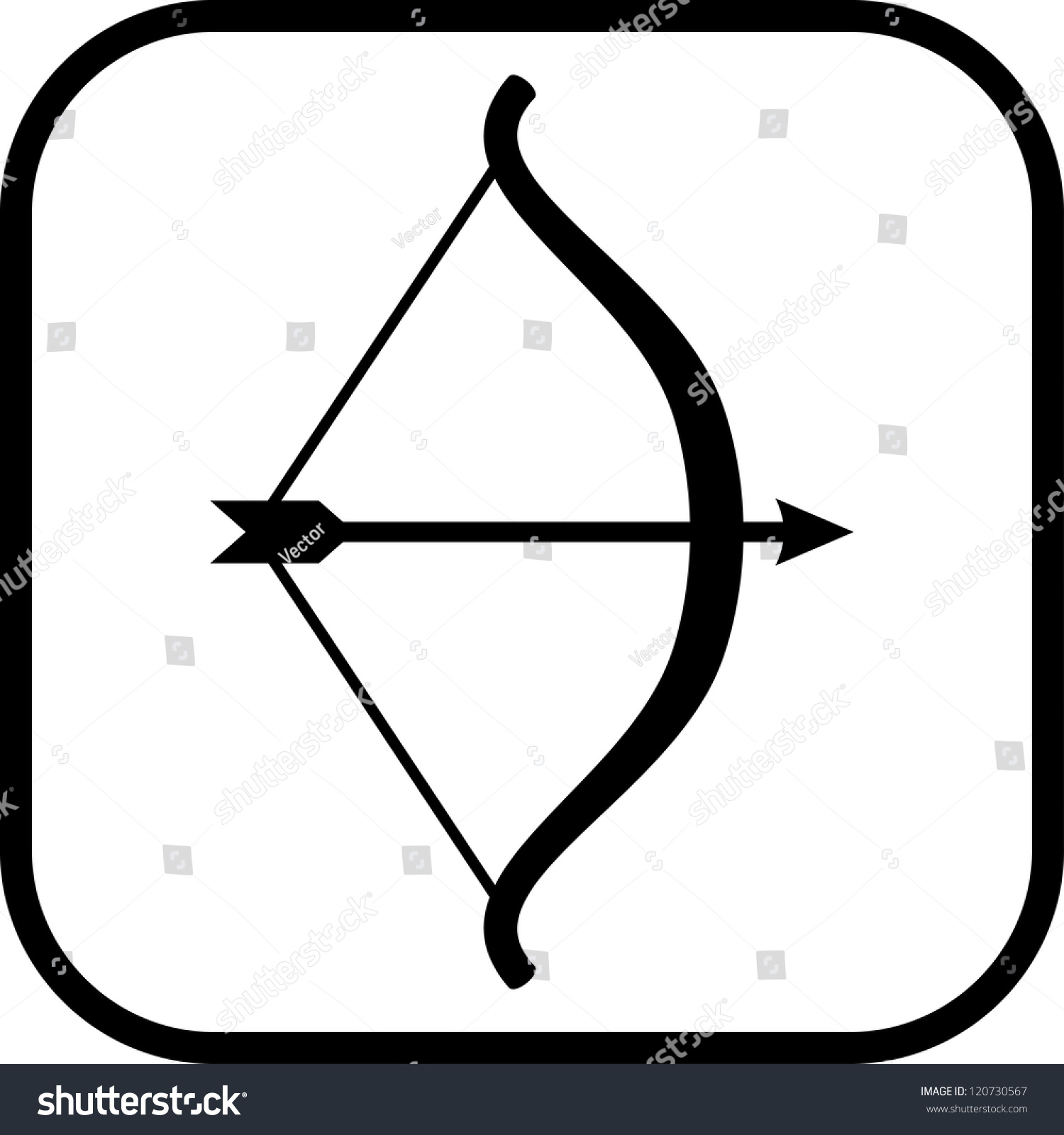 Bow Arrow Vector Icon Isolated Stock Vector 120730567 ...