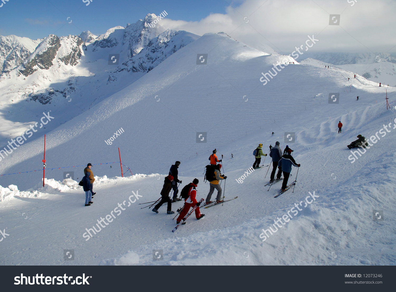 kasprowy mountain ski resort tatra mountains stock photo (edit now