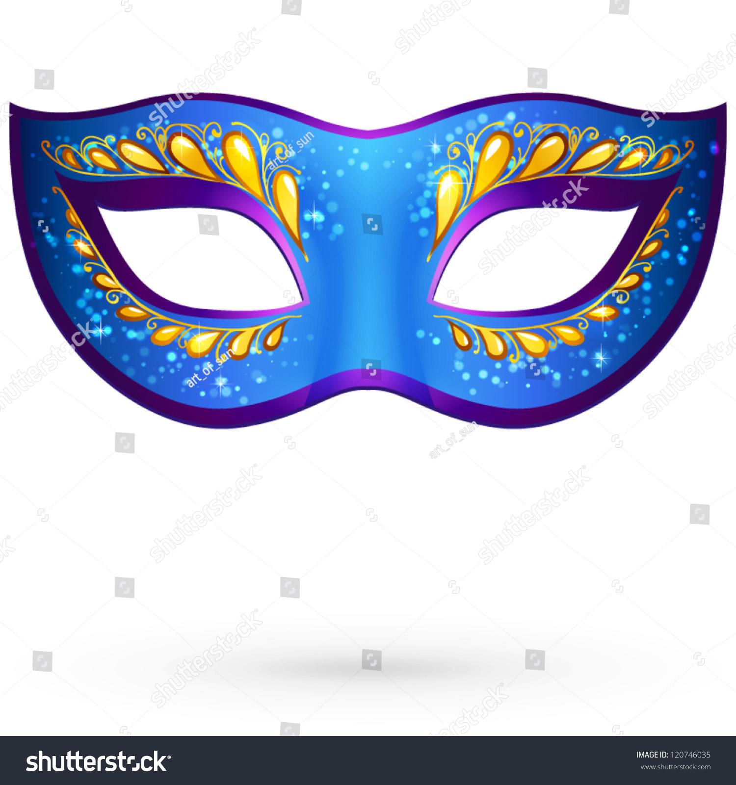 Vector illustration of carnival mask logo vector - Spostamento cavi telecom dalla facciata di casa ...