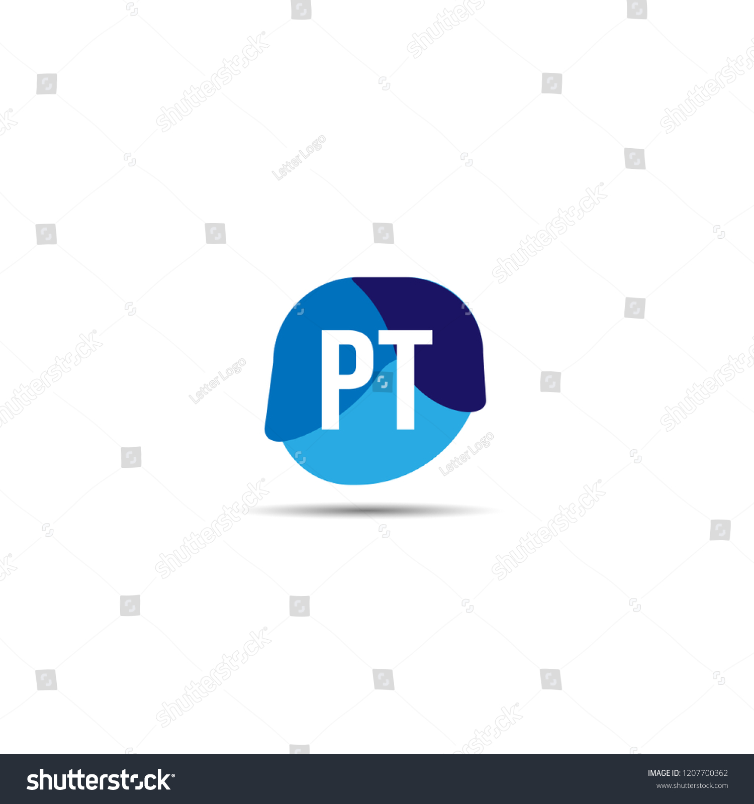 initial letter pt logo template design stock vector royalty free