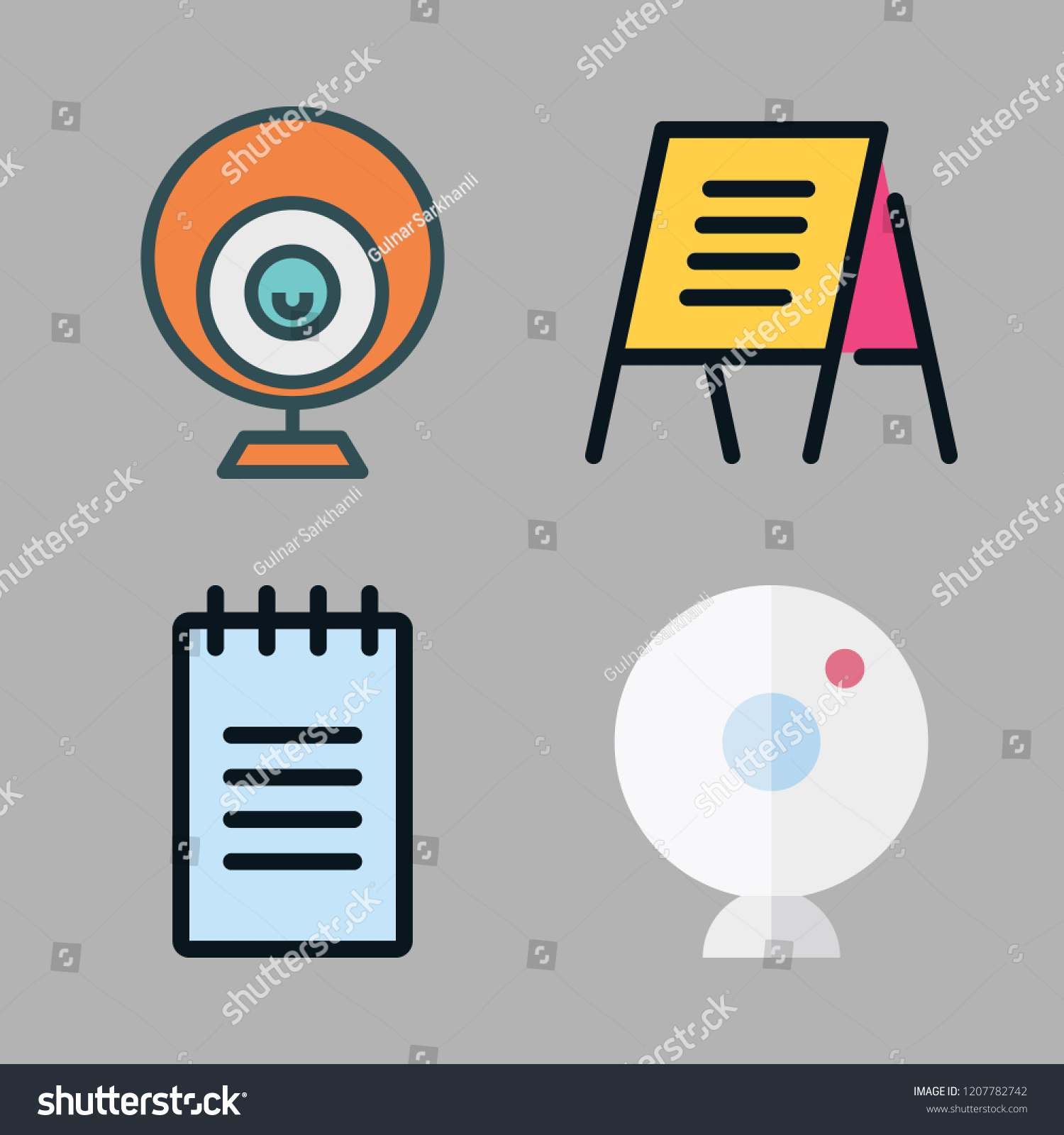 Strip Icon Set Vector Set About Stock Vector Royalty Free 1207782742