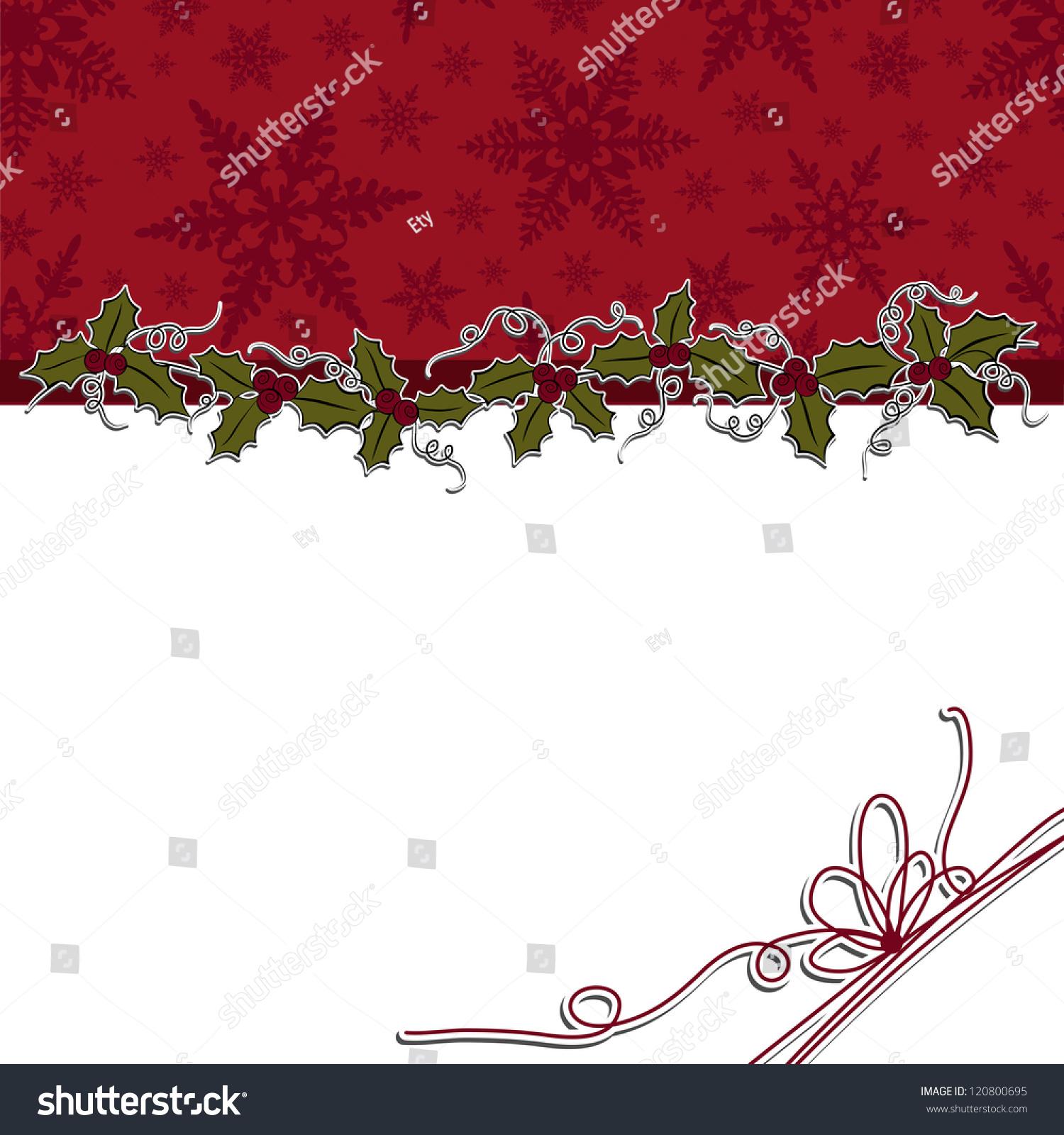 Cute Christmas Postcard Template Blank Stock Vector Royalty Free 120800695