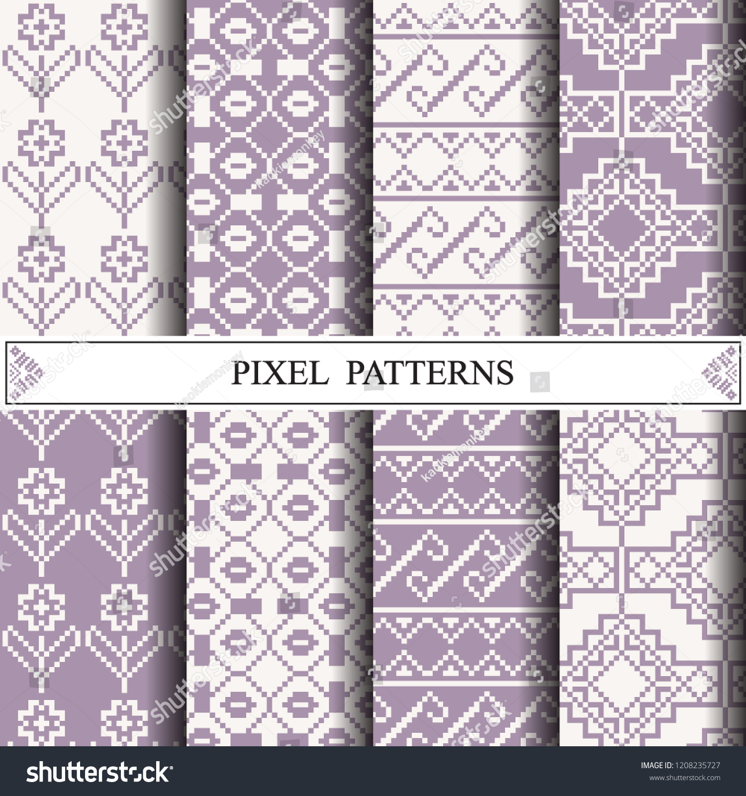 Thai Pixel Pattern Making Fabric Textile Stock Vector (Royalty Free ... 4e6be9a2a7b20
