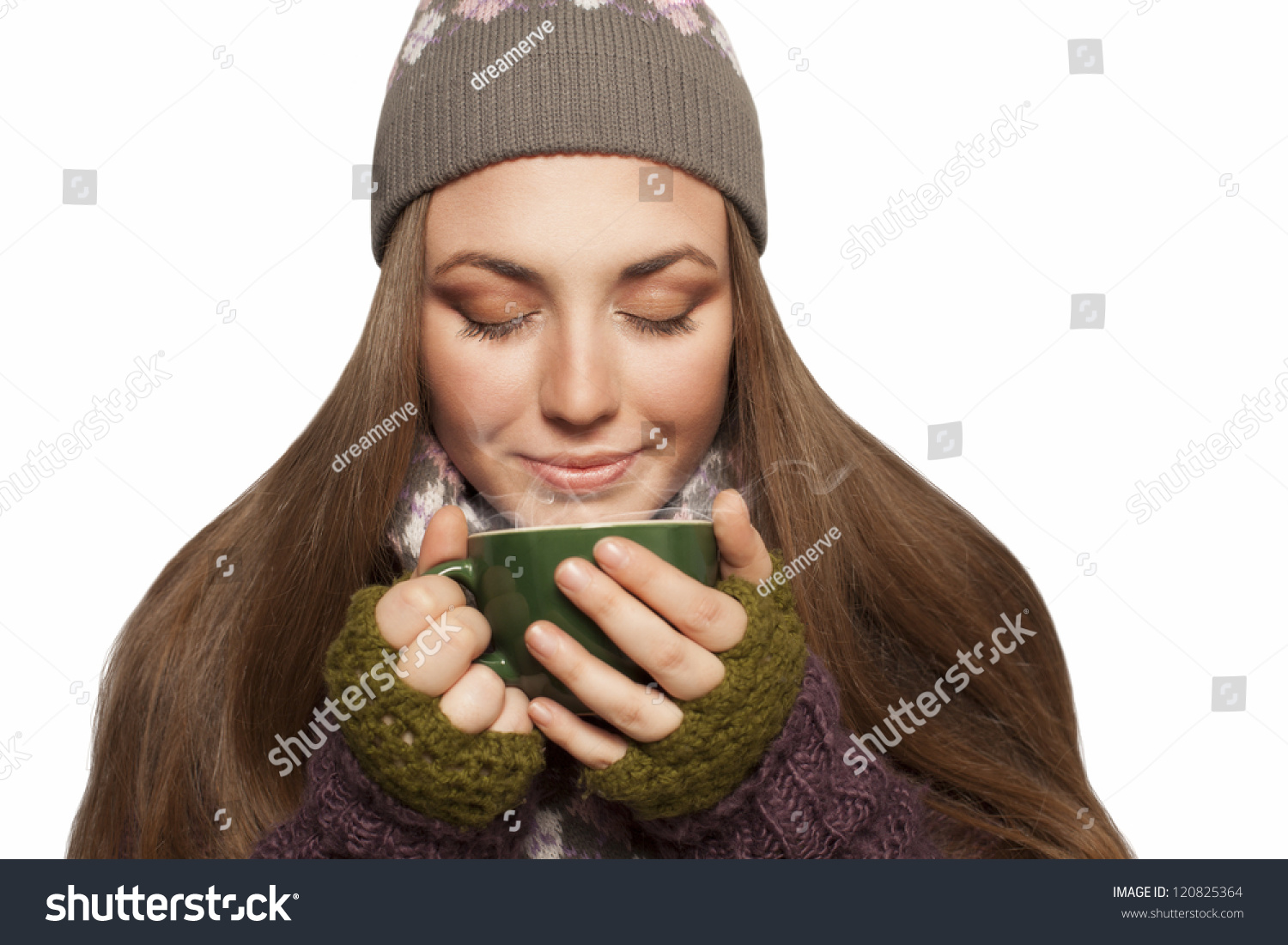 0a46ccee15d7 Beautiful Young Woman Holding Cup Tea Stock Photo (Edit Now ...