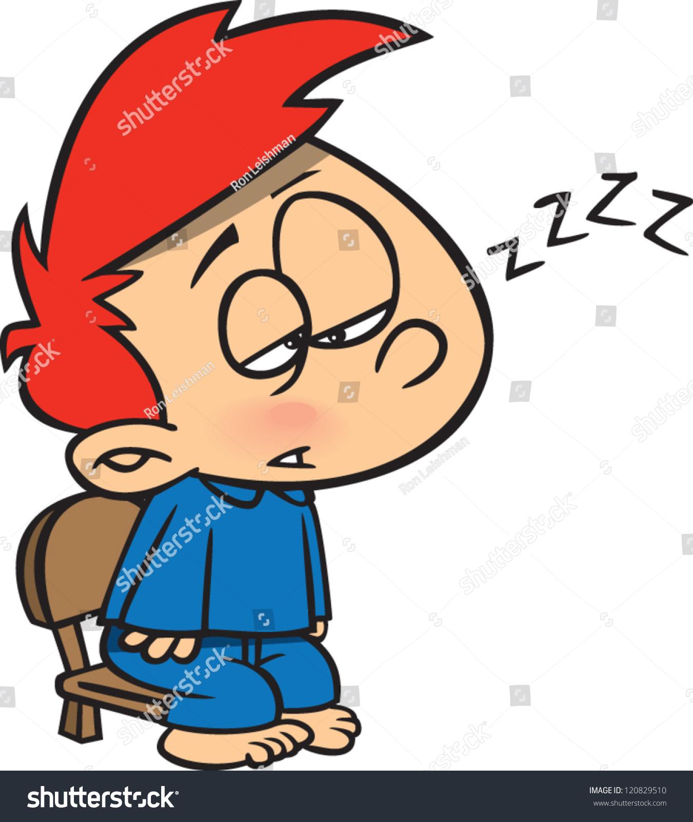 sleepy cartoon boy trying stay awake stock vector  sleepy cartoon boy trying to stay awake waiting for santa