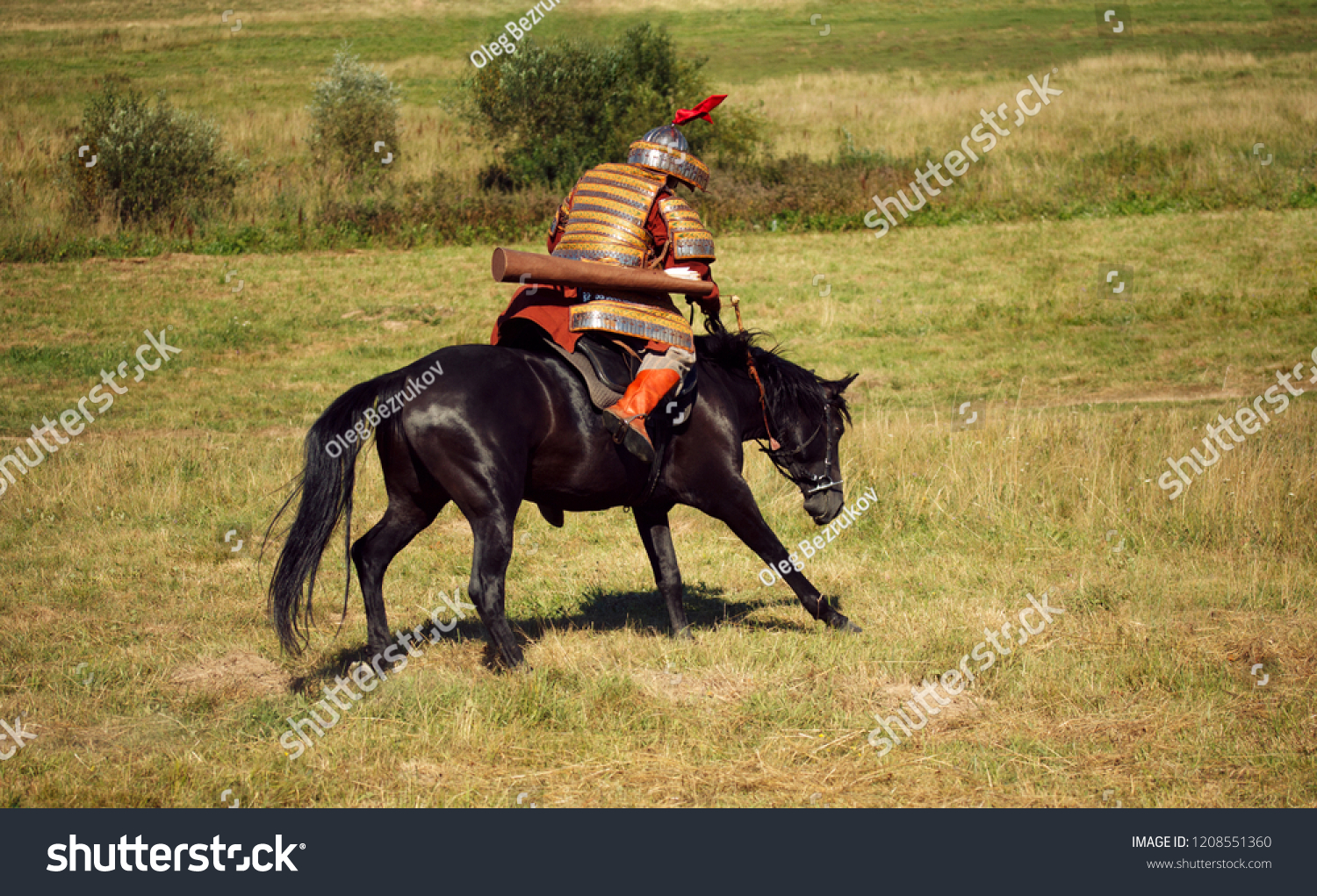 Medieval Armored Rider On Horse Equestrian Stock Photo Edit Now 1208551360
