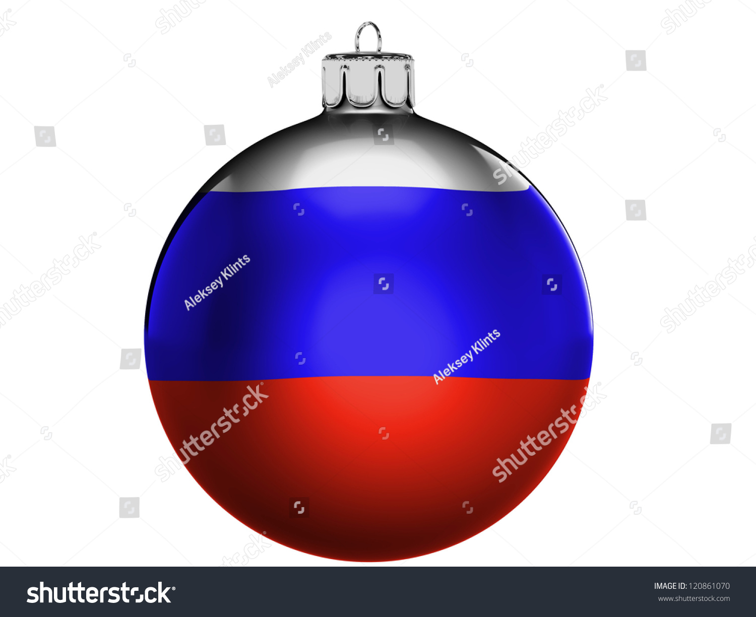 ... Flag On A Christmas, X-Mas Toy Stock Photo 120861070 : Shutterstock