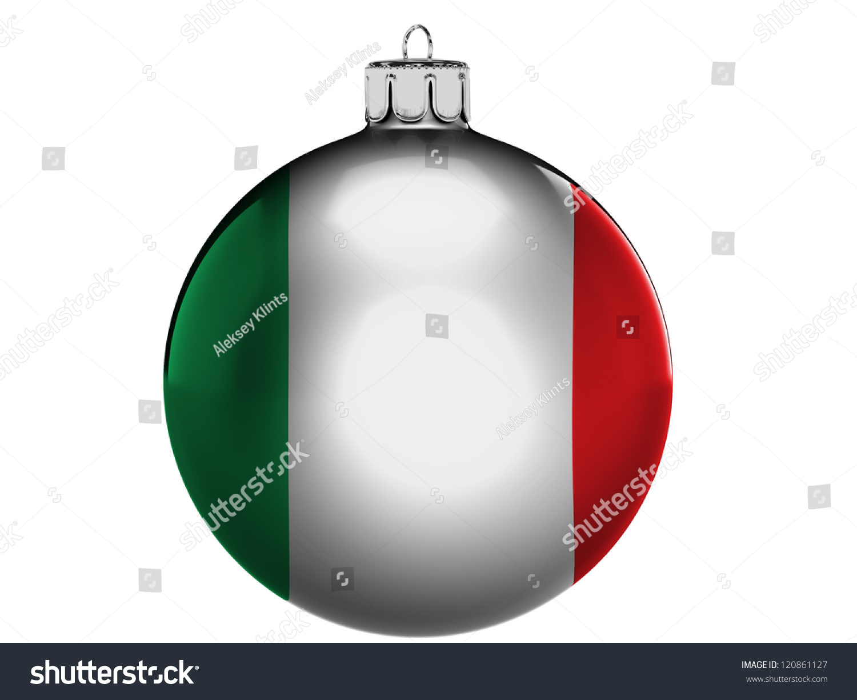 Italy Italian Flag On Christmas Xmas Stock Illustration 120861127 ...