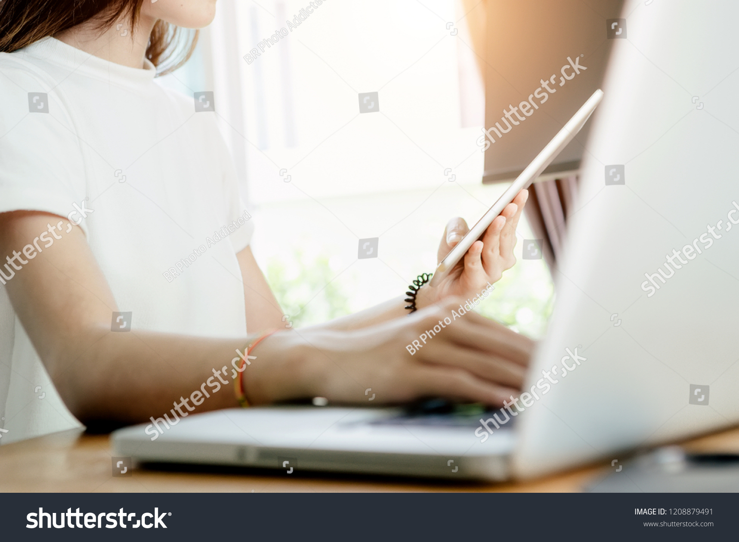 Young Asian Girl Freelancer Her Private Stock Photo (Edit