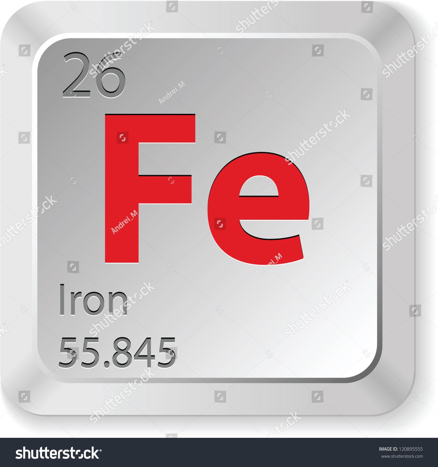 Iron Element Stock Vector Royalty Free 120895555 Shutterstock