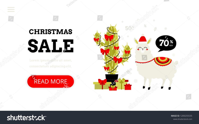 christmas shopping landing page template modern stock vector