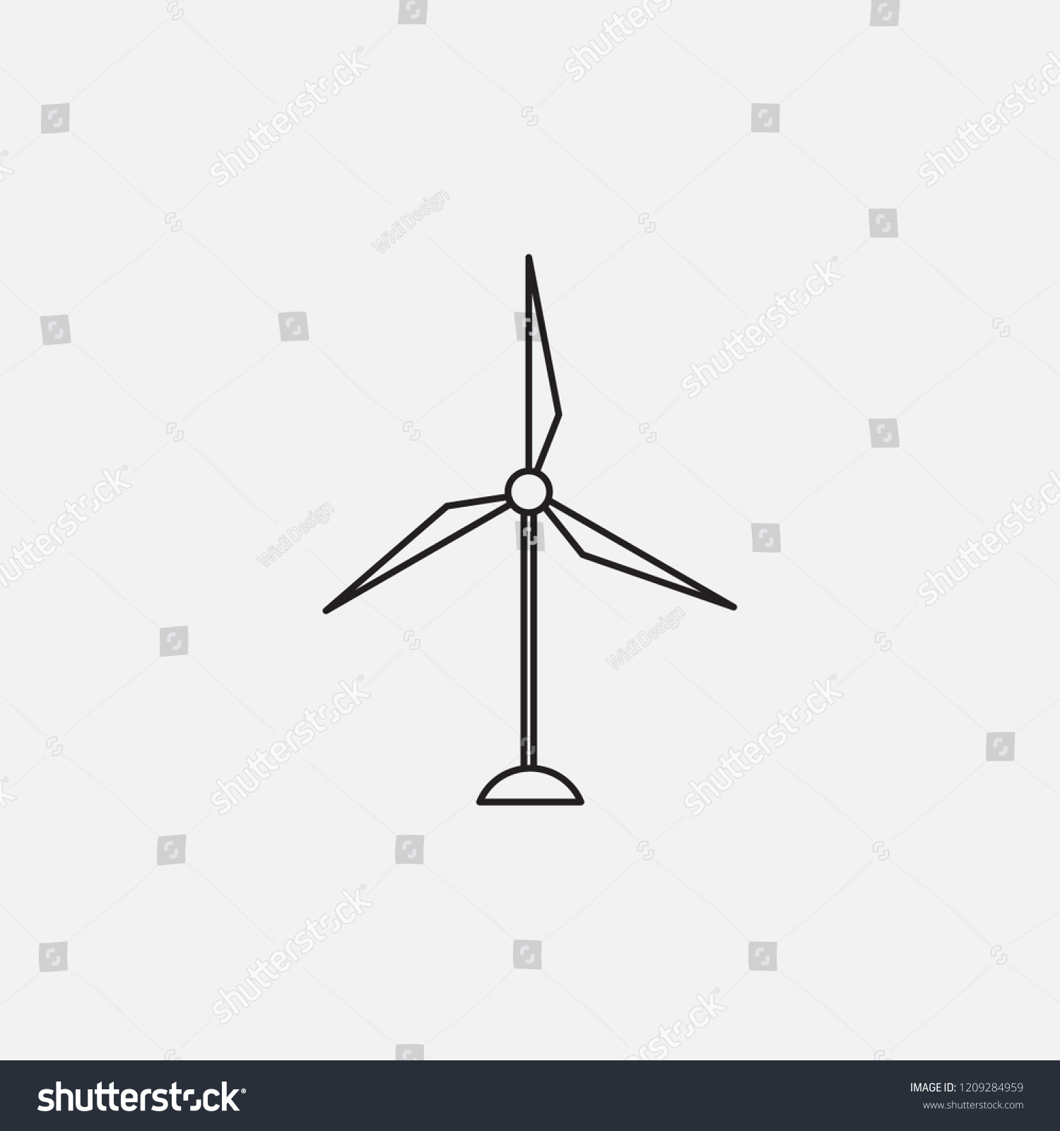 fan wind mill icon template design stock vector royalty free