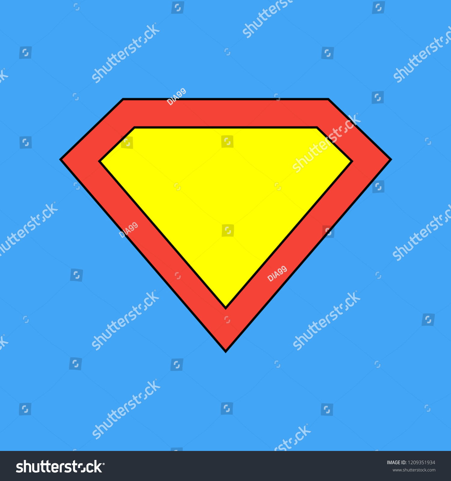 Superman Logo Template Vector Icon Illustration