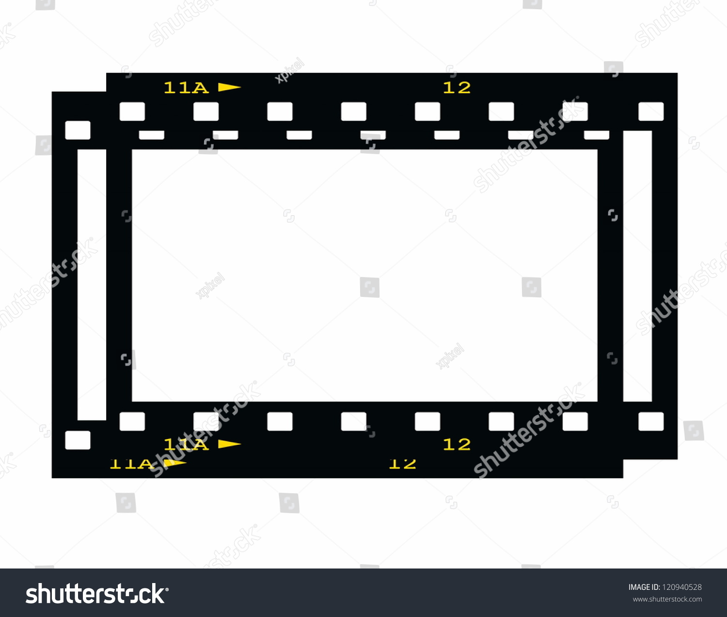 Blank Film Strip Frame Isolated On Stock Illustration 120940528 ...