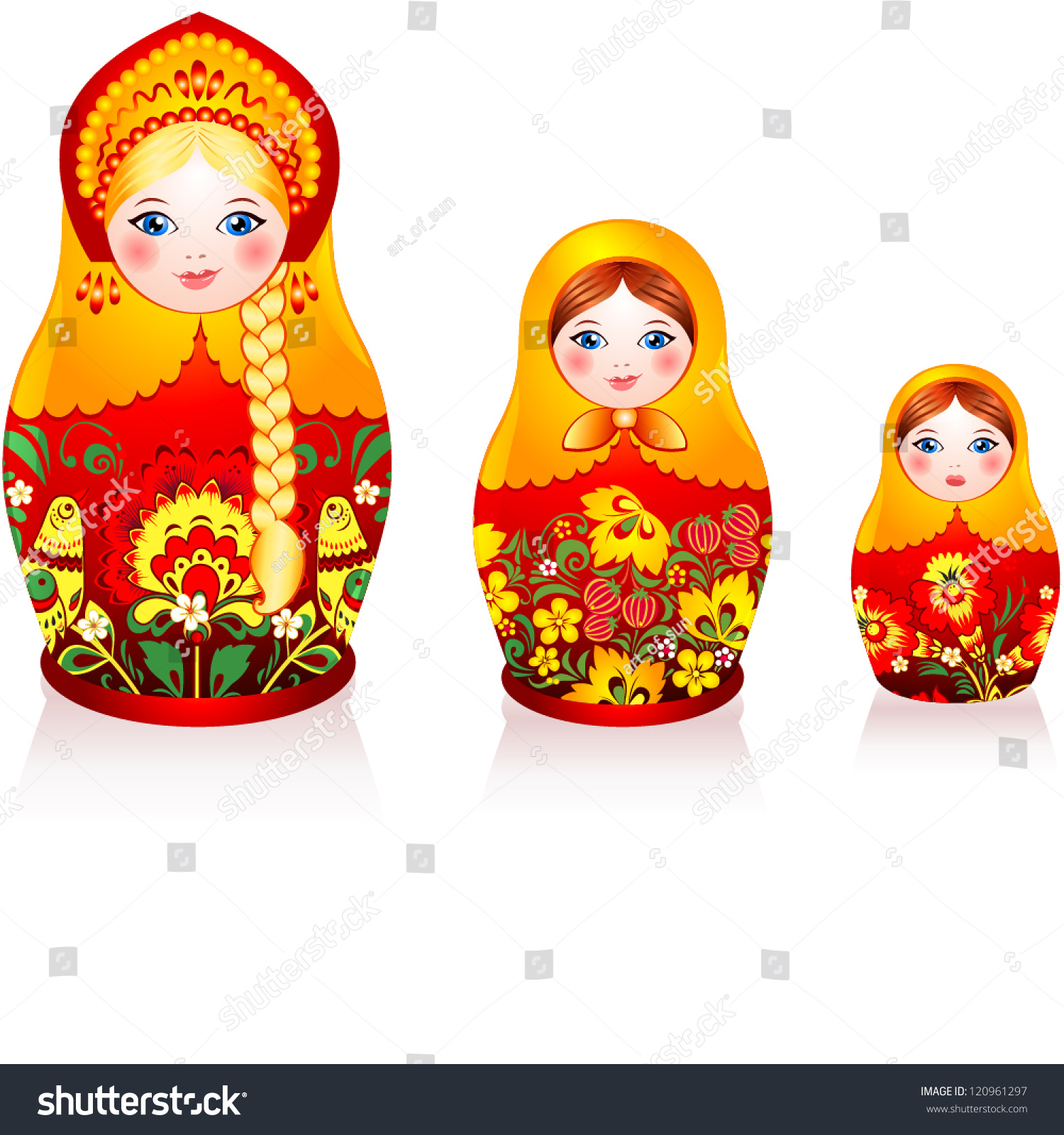 russian tradition matryoshka dolls hohloma style stock vector russian tradition matryoshka dolls in hohloma style a brand of russian traditional or nts used for