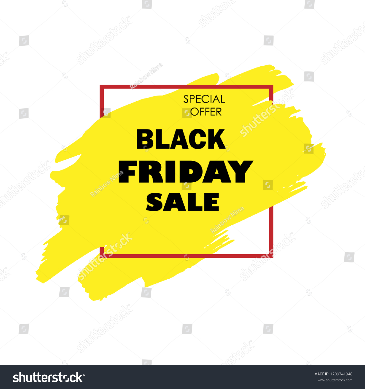 Black Friday Sale Poster Black Text Stock Vector (Royalty