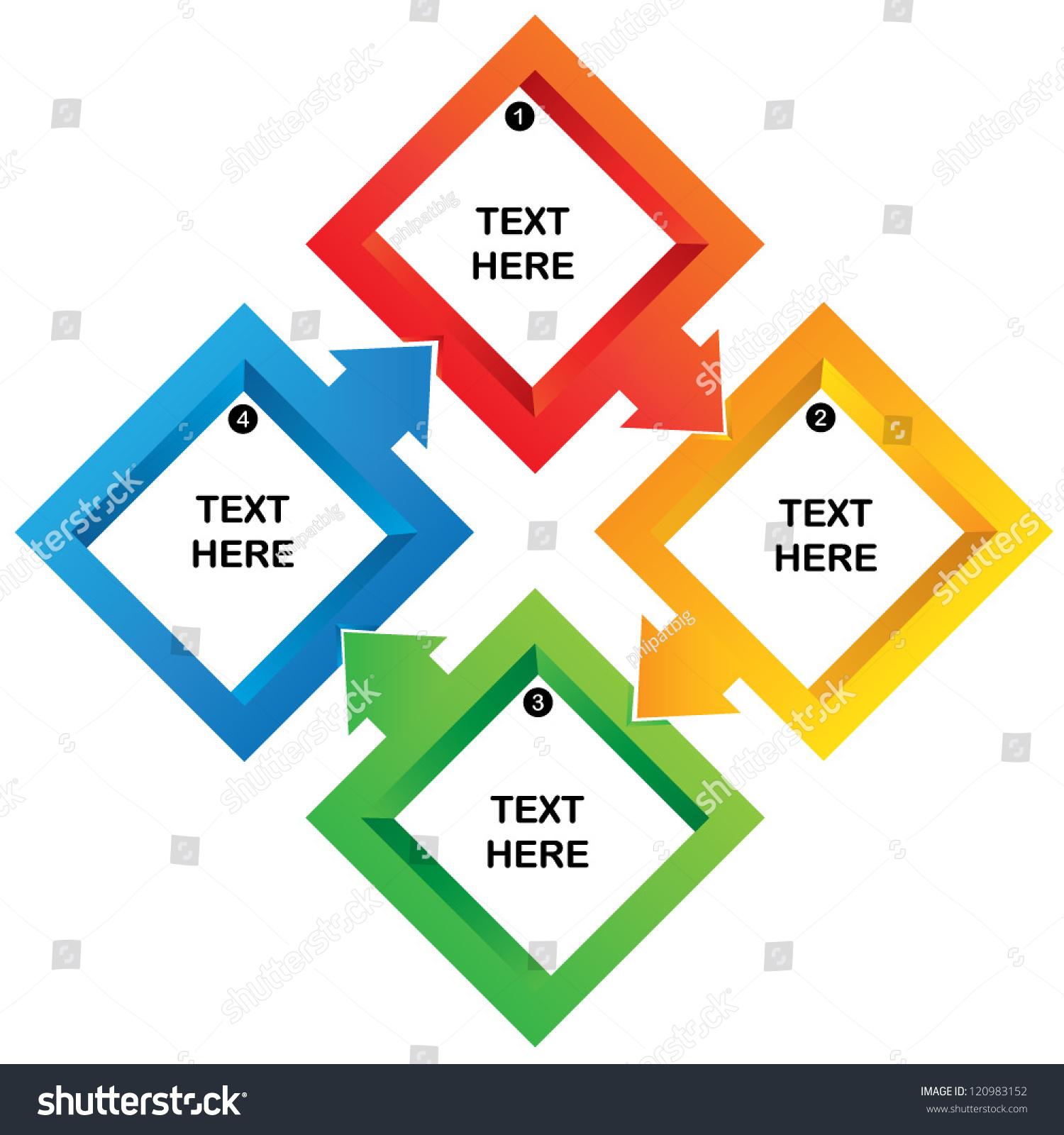 Process Chart Template Stock Vector Square Flow Chart Presentation Template  Process Diagram 120983152 Process Chart Template Business Charts Square Root  ...