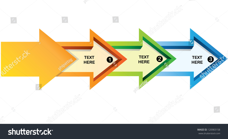 arrow flow chart presentation template stock vector