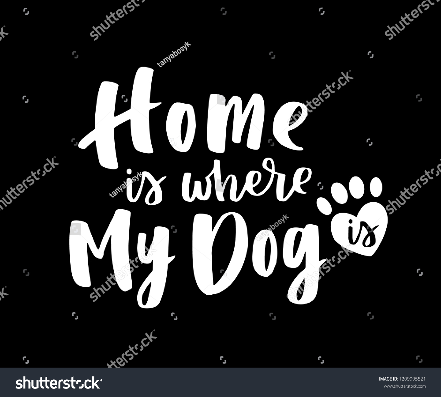 Typographical Poster About Dog Love Vector Stock Vector Royalty Free 1209995521