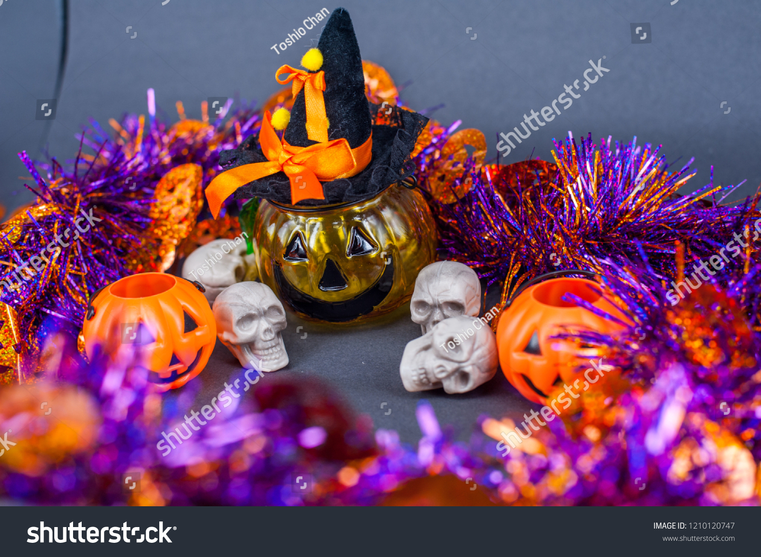 Halloween Theme Party.Halloween Theme Party Decoration Spooky Small Stock Photo Edit Now