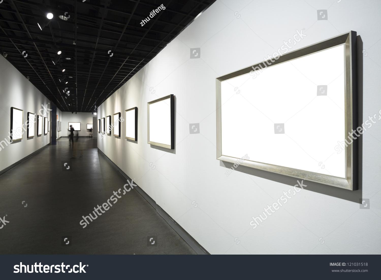 Frames On White Wall Art Museum Stock Photo 121031518 - Shutterstock