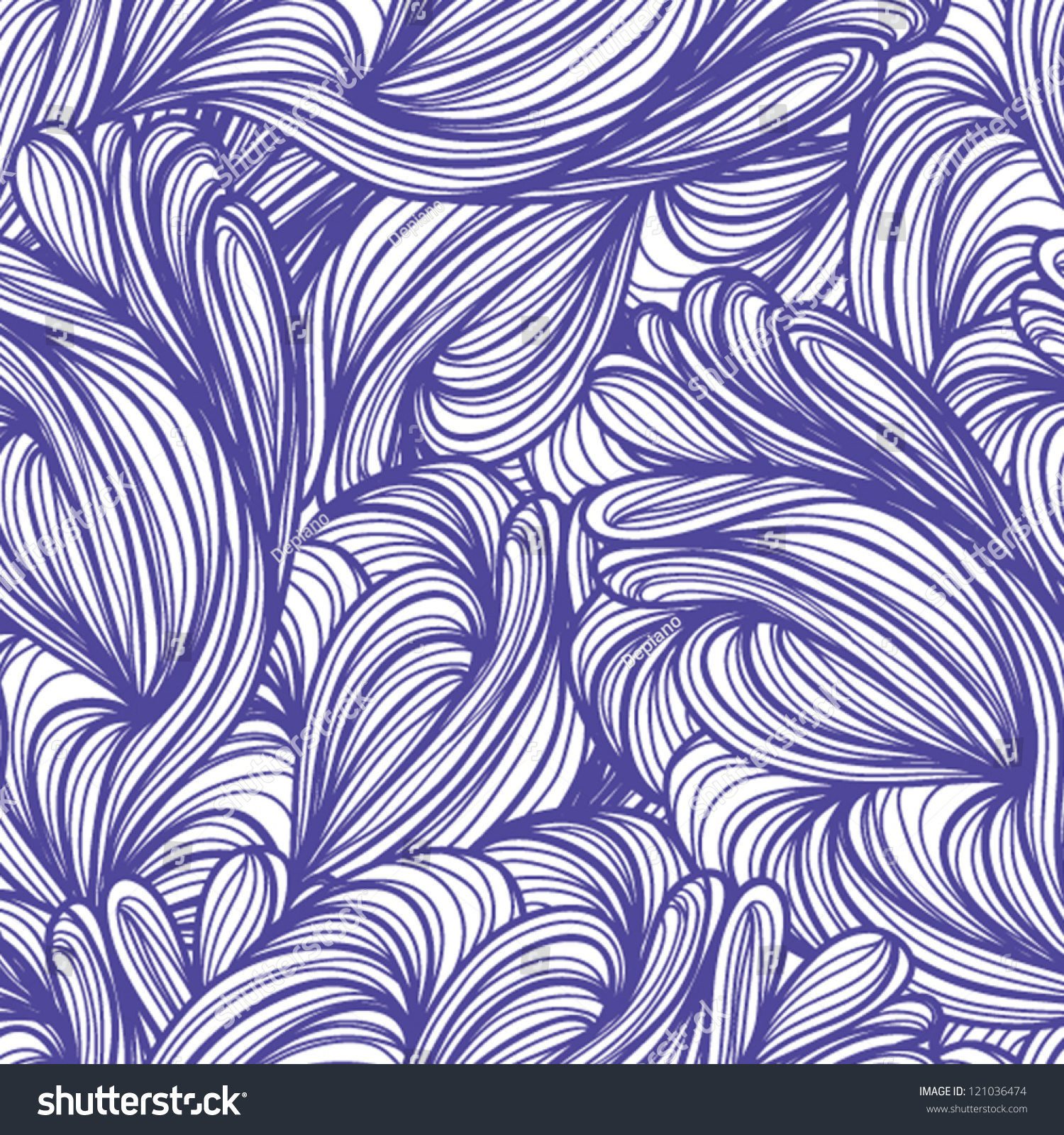 Seamless Abstract Pattern, Waves Background, Wallpaper