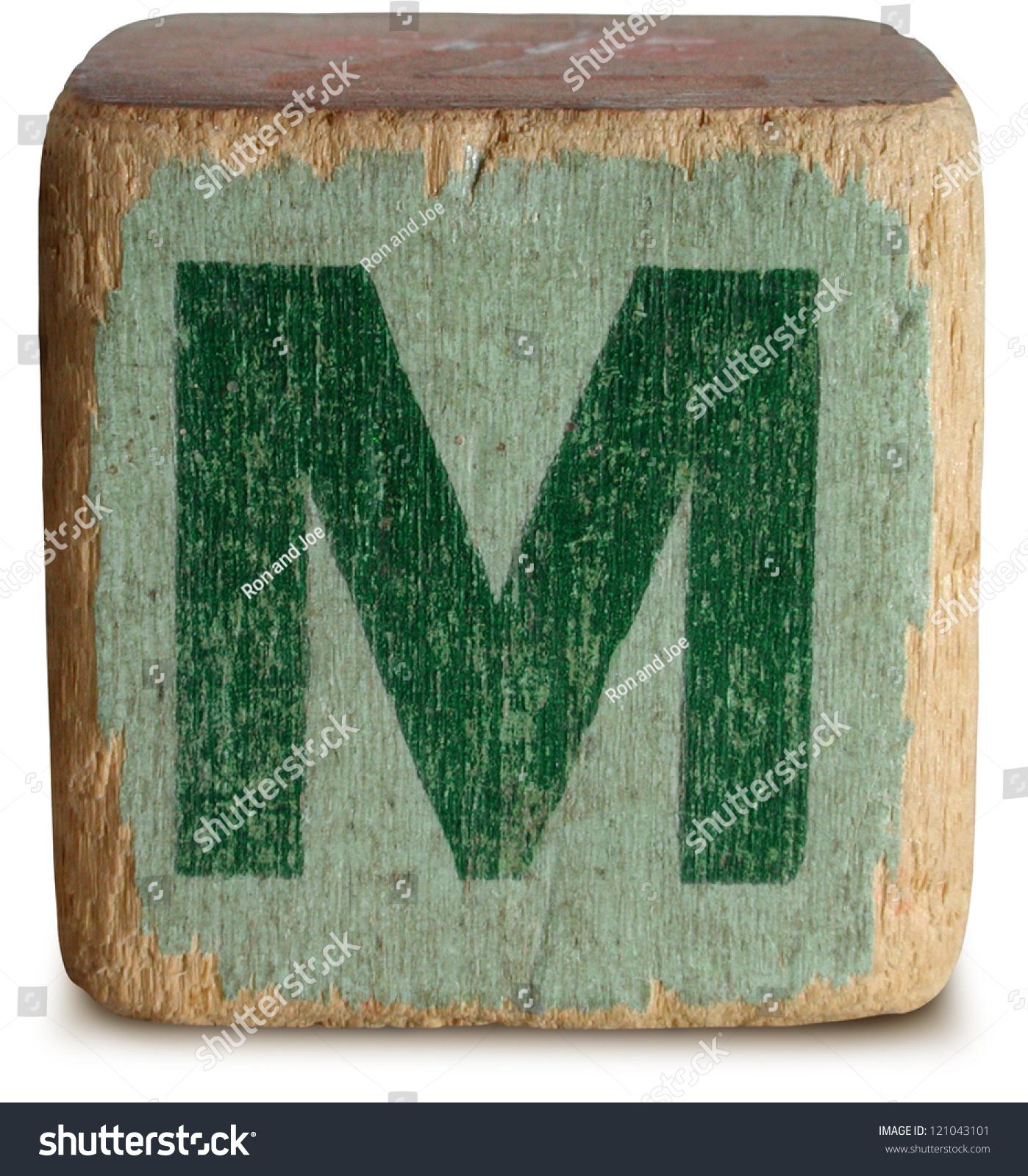 graph Wooden Block Letter M Stock Shutterstock