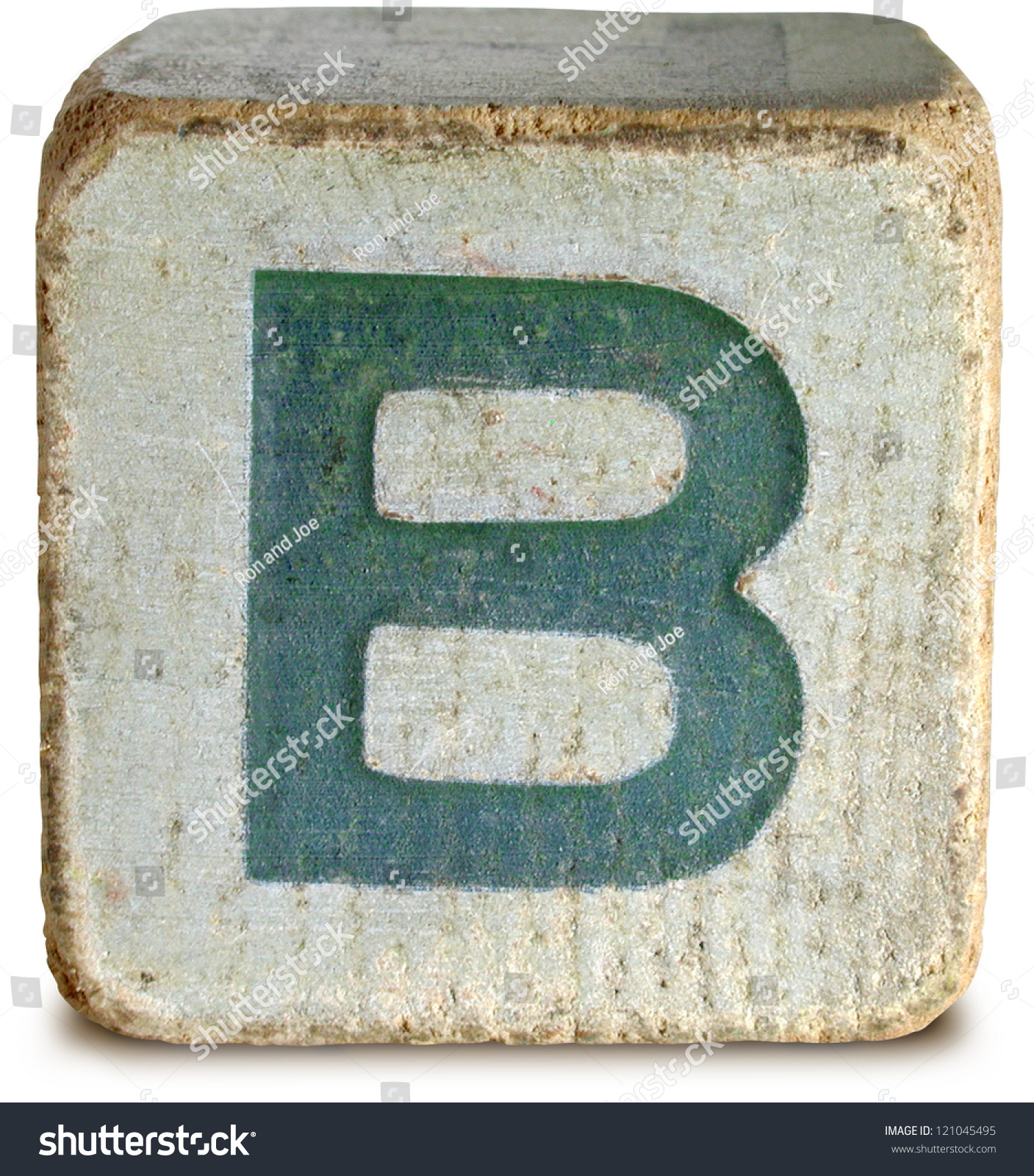 Royalty-free Photograph of Wooden Block Letter B #121045495 Stock