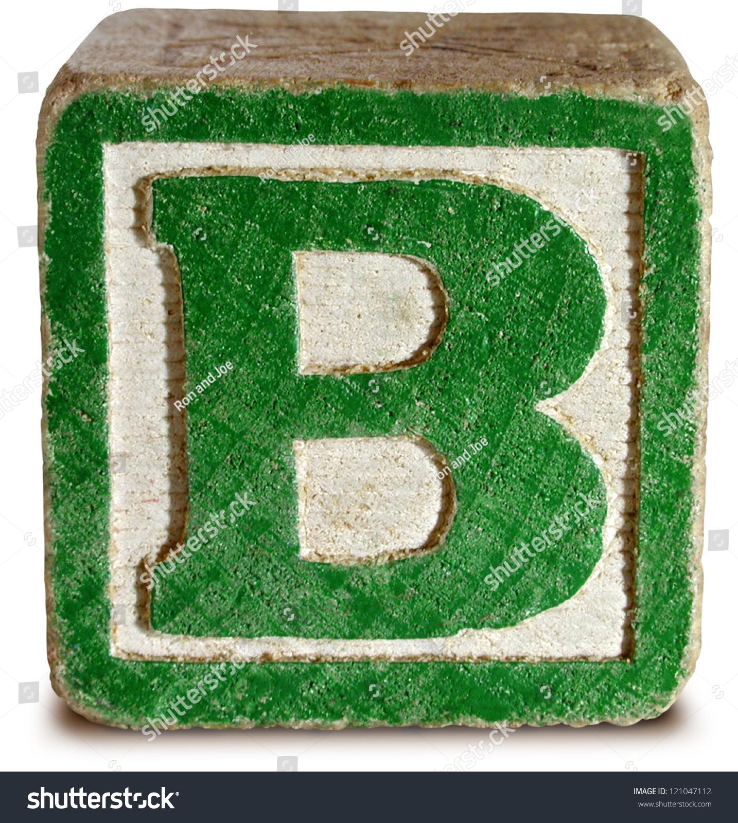 graph Wooden Block Letter B Stock Shutterstock