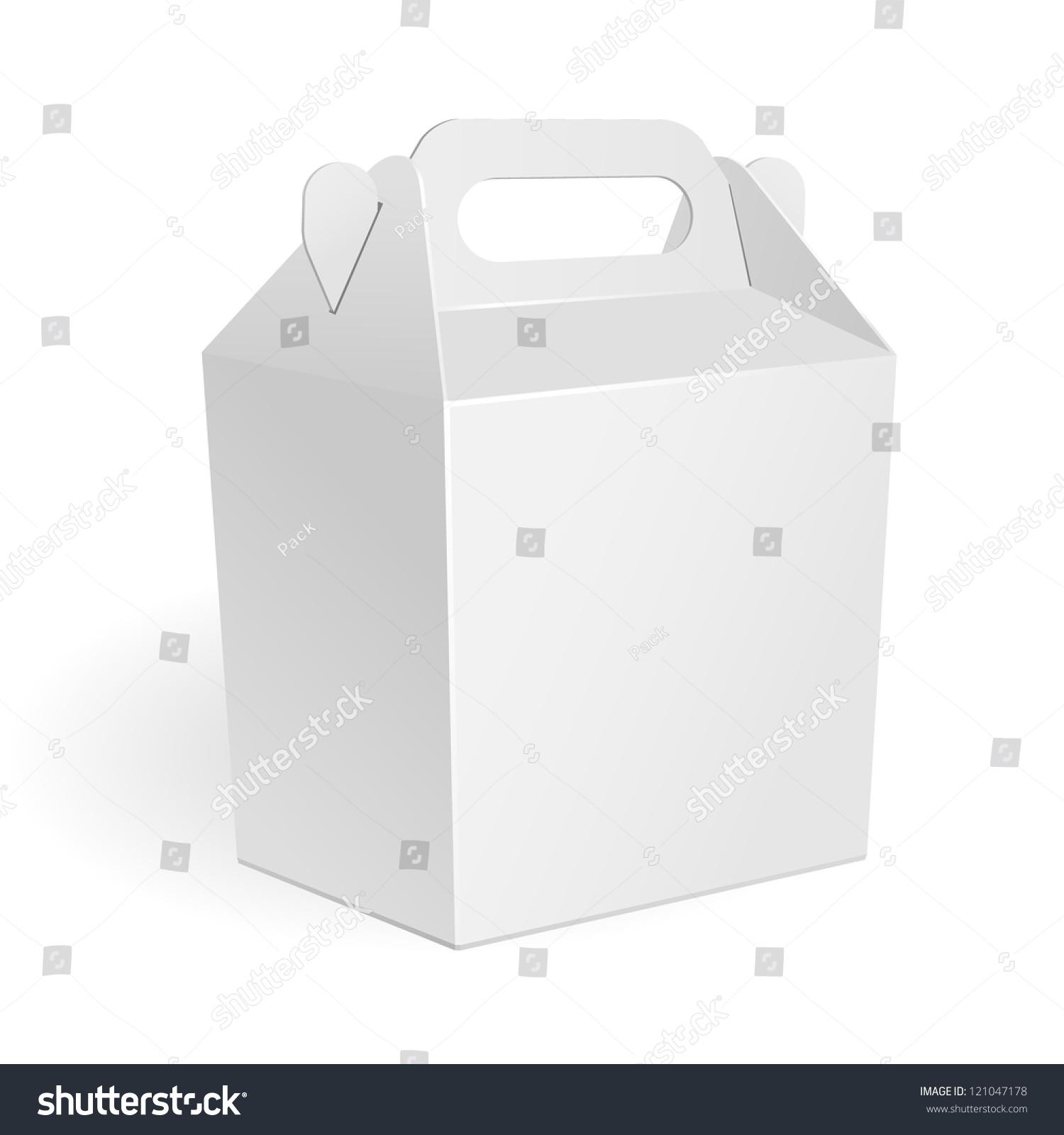 white big cardboard fast food box packaging for lunch. Black Bedroom Furniture Sets. Home Design Ideas