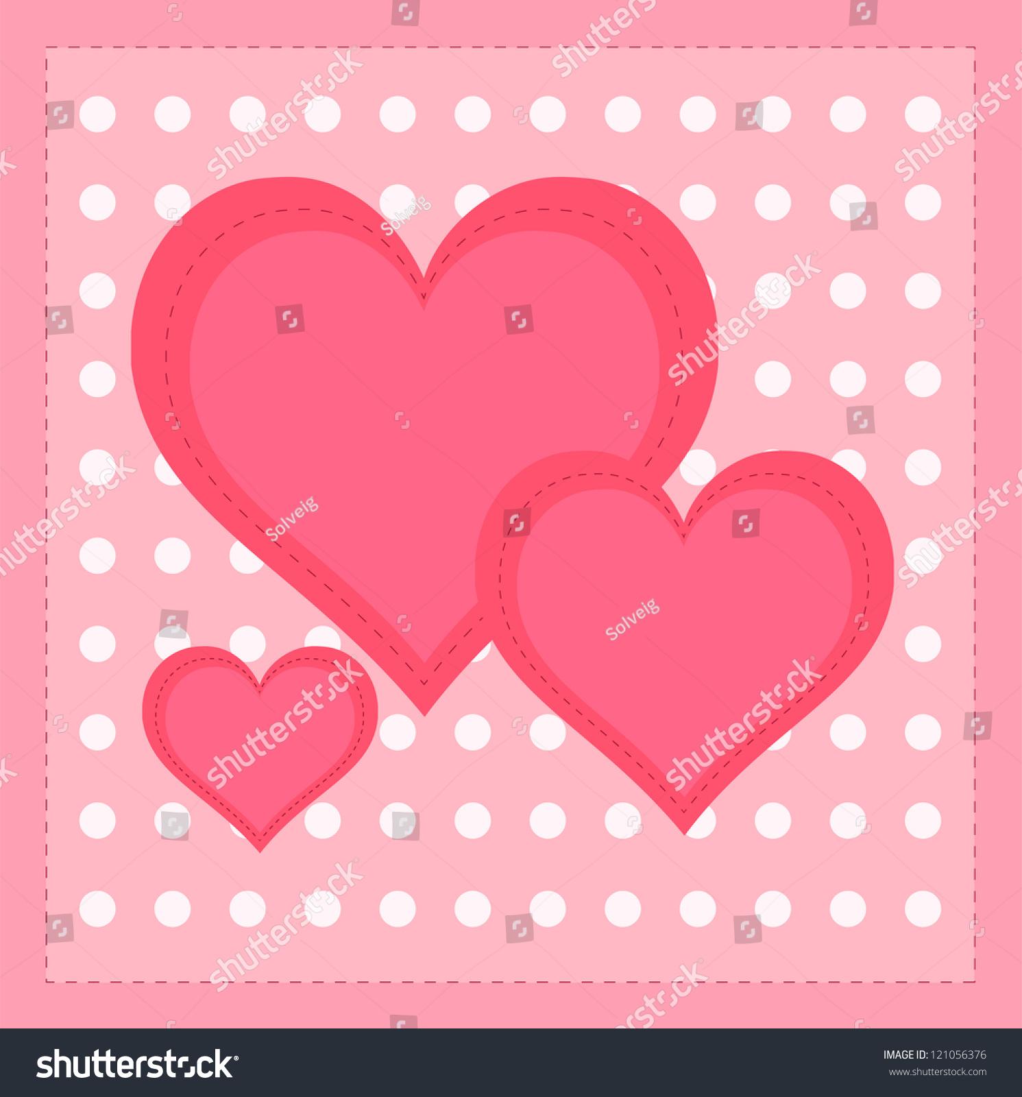 Beautiful Valentine Cards Decorative Hearts On Stock Illustration