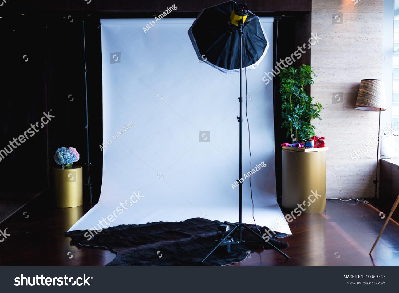 Creative Minimal Diy Indoor Photo Studio Stock Photo Edit Now 1210969747