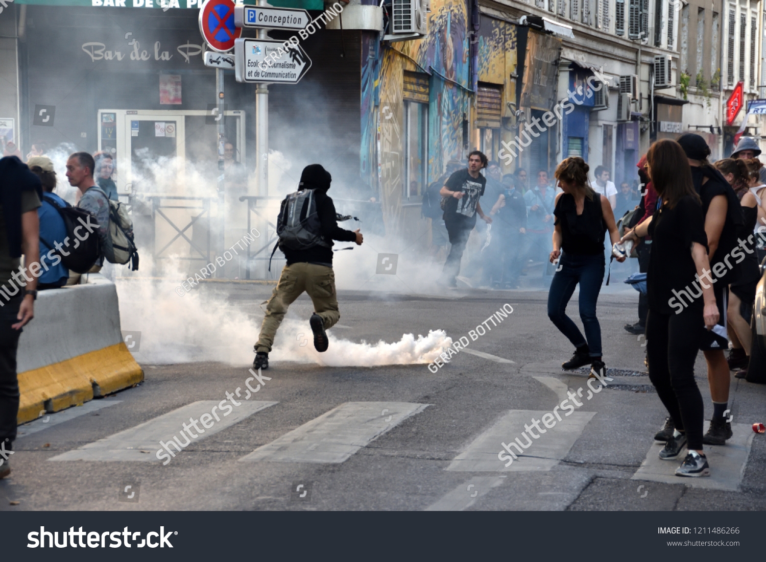 Marseille France October 13 2018 Police Stock Photo Edit Now