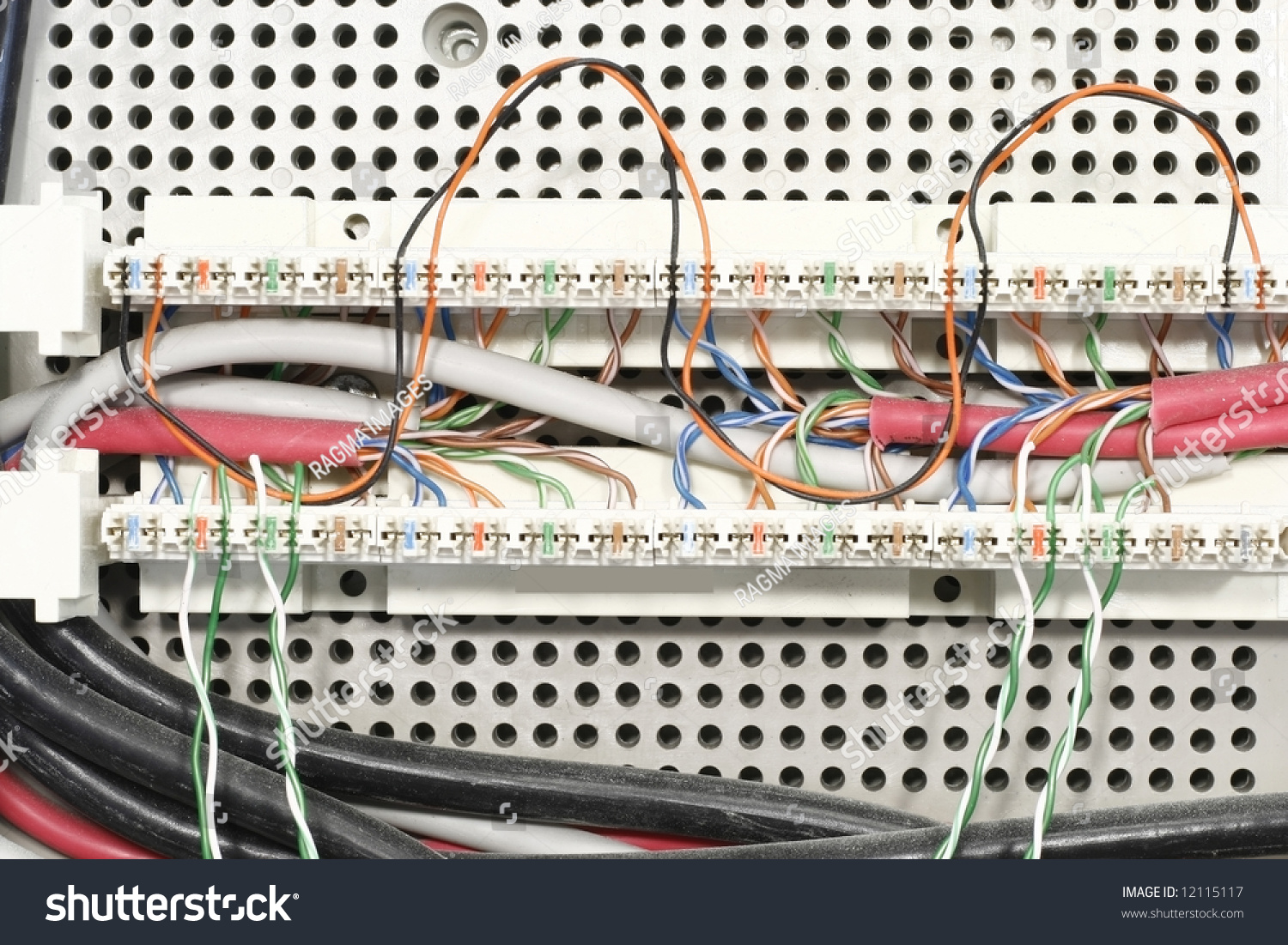 Magnificent Junction Box Internet Cables Stock Photo Edit Now 12115117 Wiring 101 Capemaxxcnl