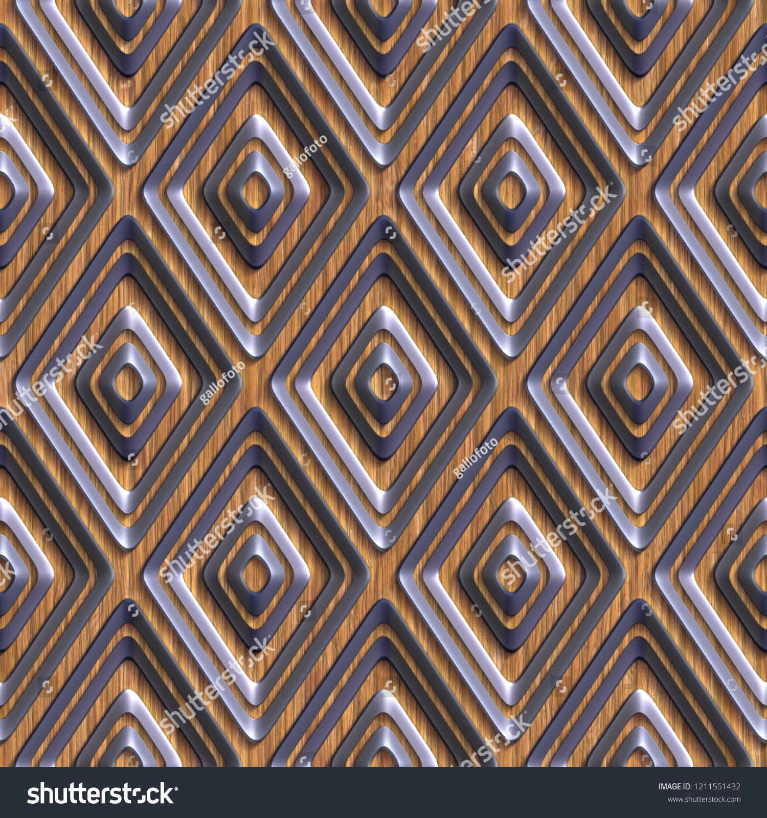 3d Effect Seamless Background Wallpaper Decoration Stock