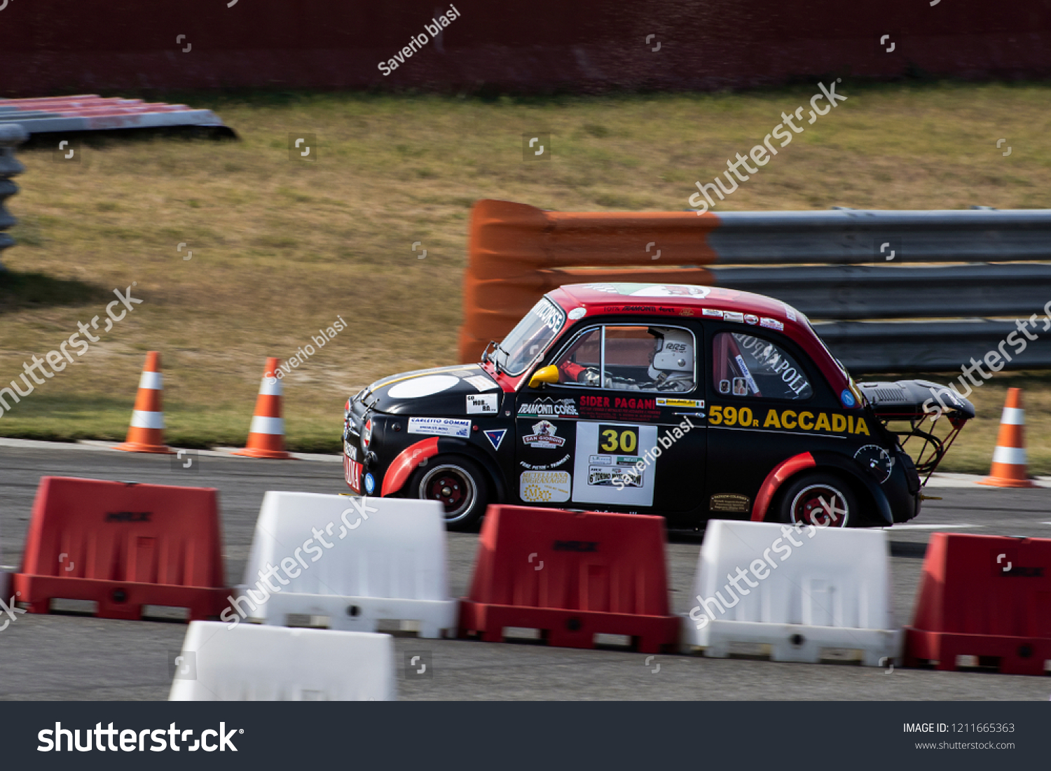 Old Fiat 500 Abarth Racing Car Stock Photo Edit Now 1211665363