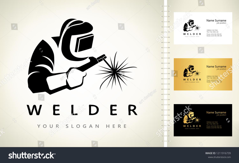 Welder Logo Vector Stock Vector Royalty Free 1211916739