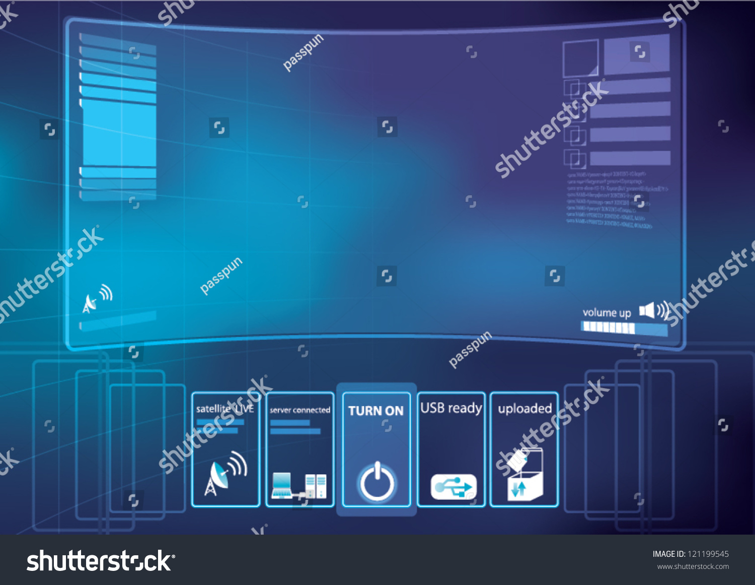 Abstract Technology Background Vector Illustration Control