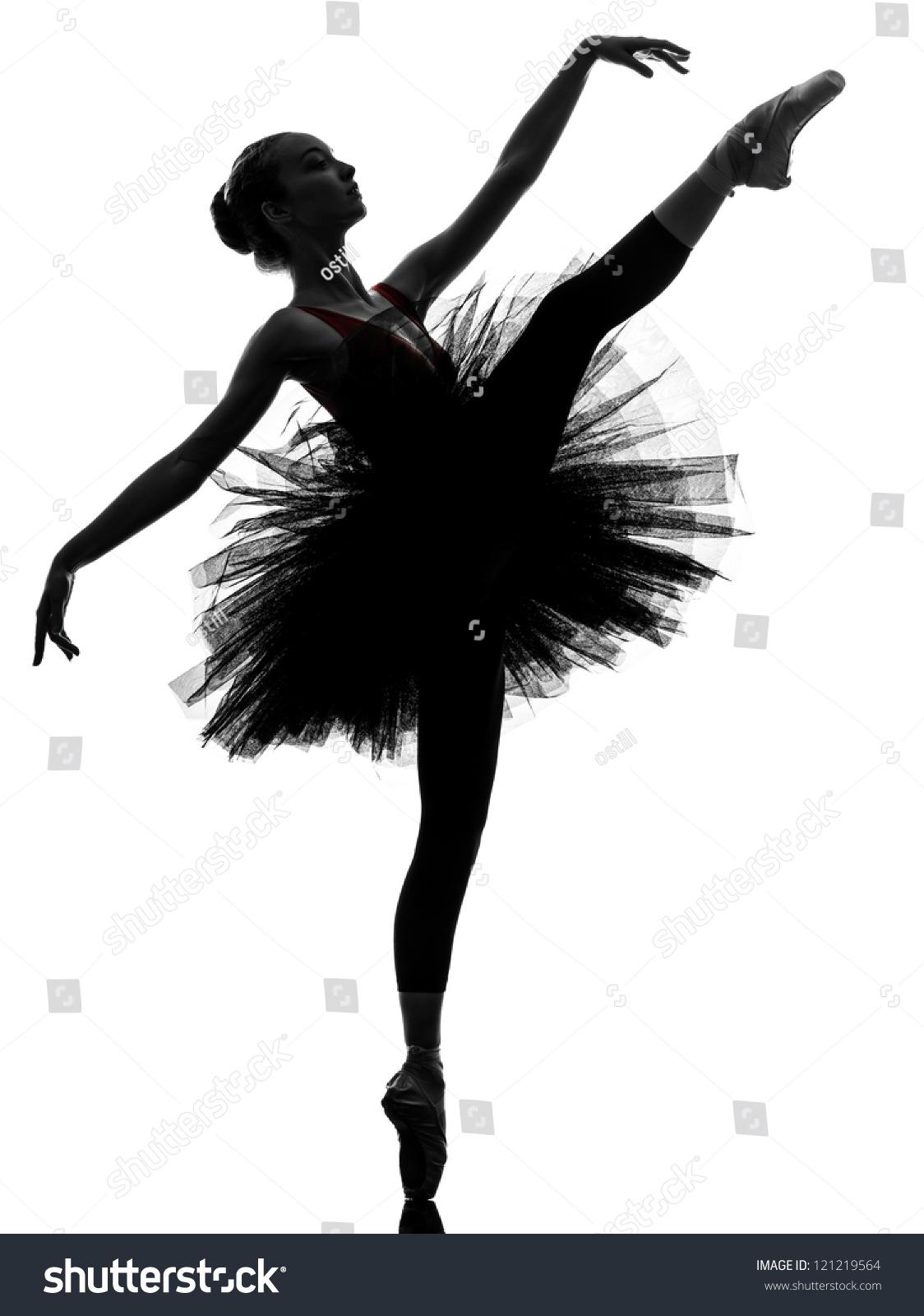 One Caucasian Young Woman Ballerina Ballet Stock Photo