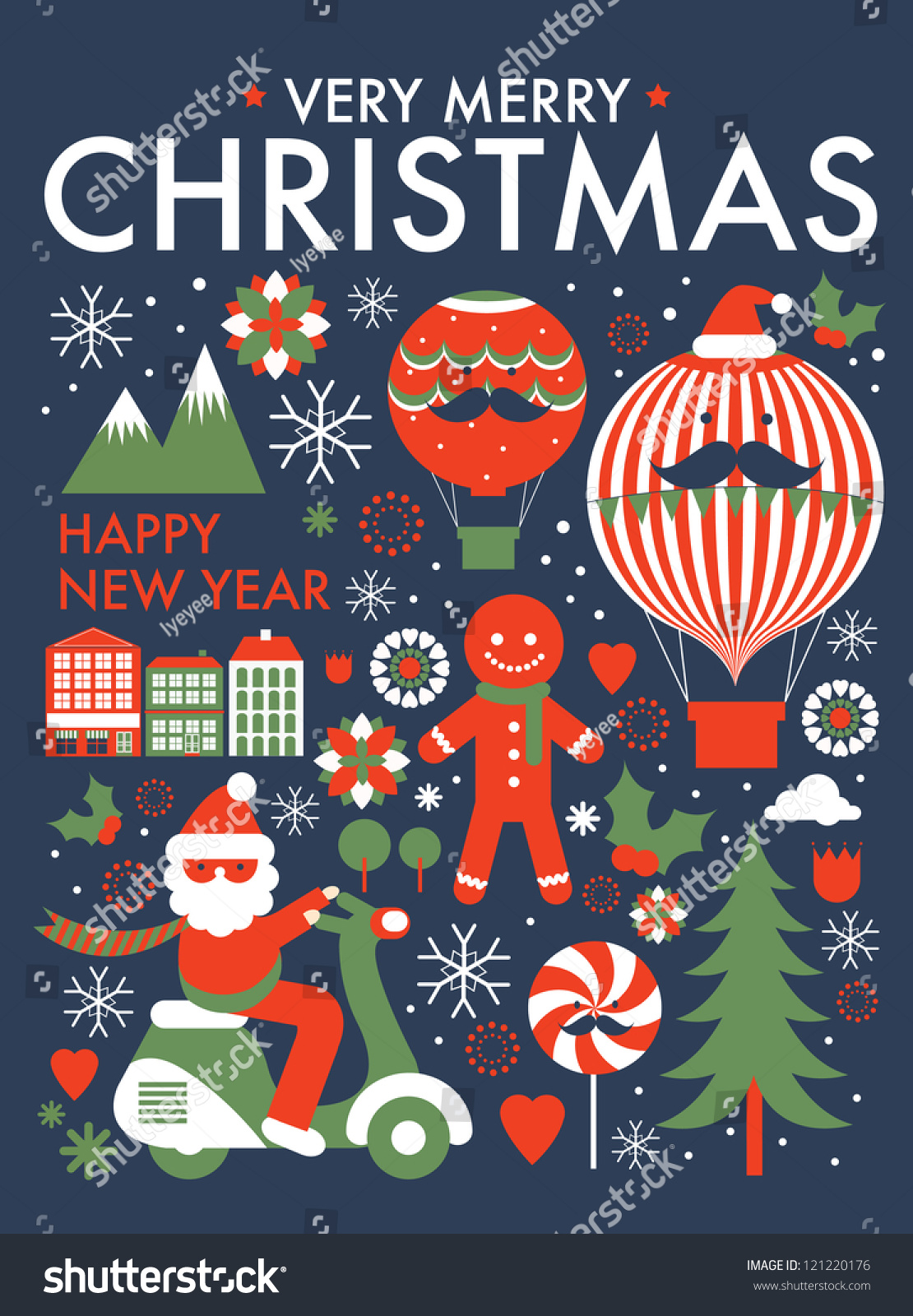 christmas greeting card poster template vector illustration christmas greeting card poster template vector illustration preview save to a lightbox