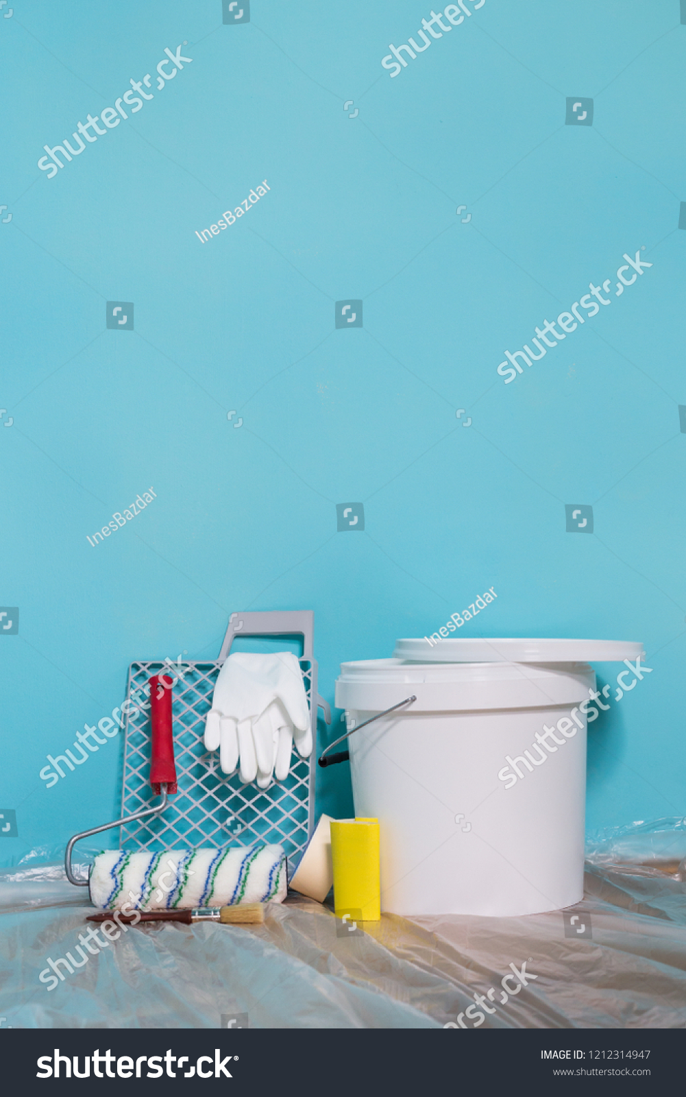 Image Equipment Painting Wall Stock Photo Edit Now 1212314947