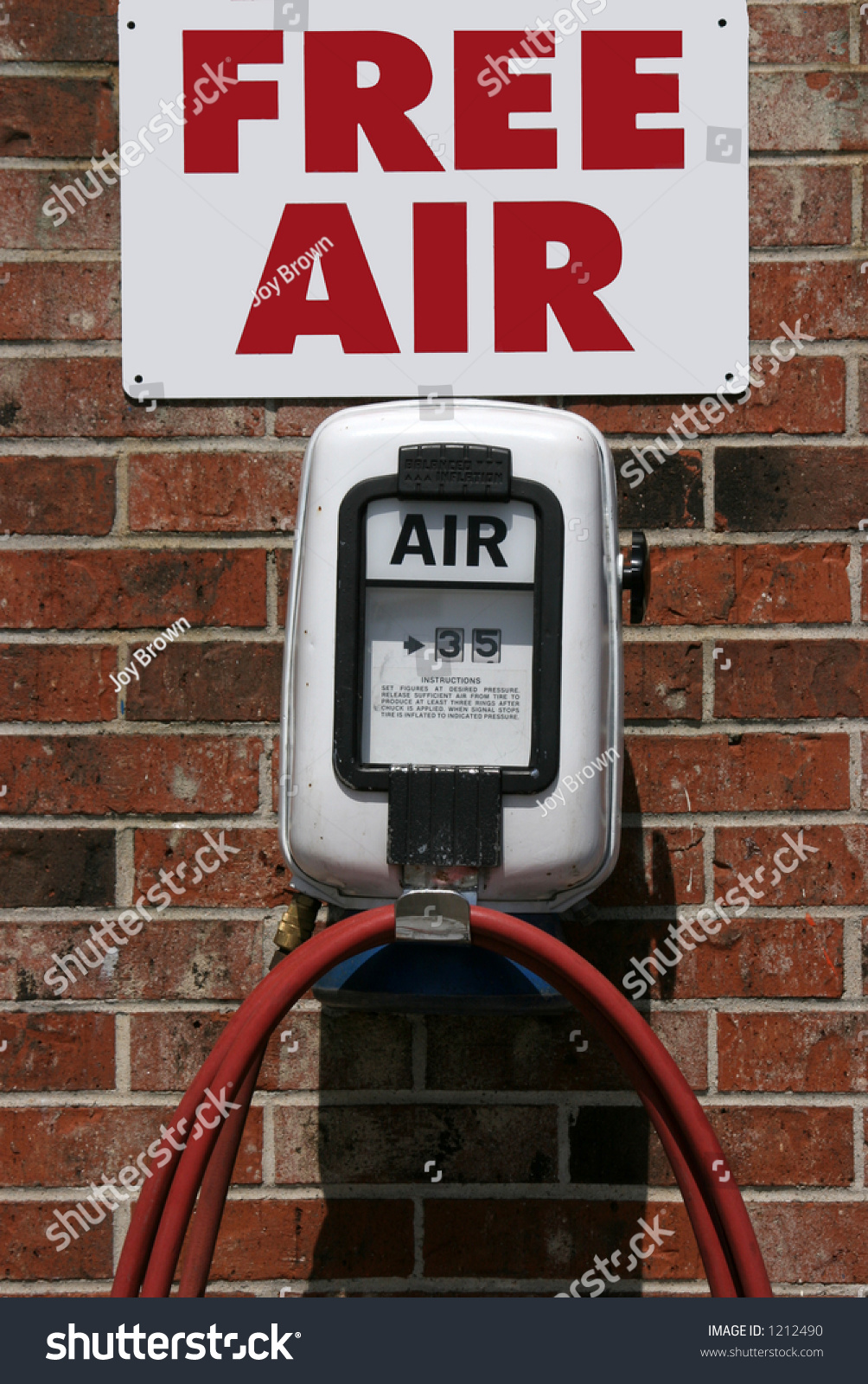 Free Air Sign Over Air Pump Stock Photo Edit Now 1212490