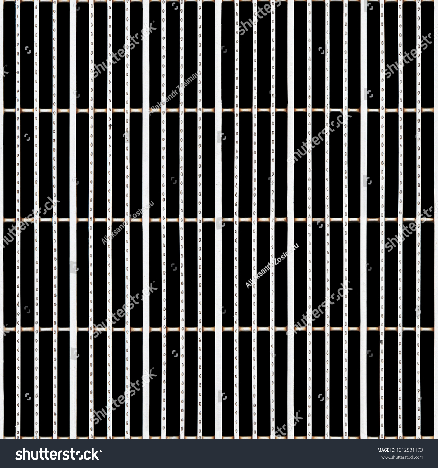 Seamless Texture Steel Drain Grill Isolated Stock Photo (Edit Now)  1212531193